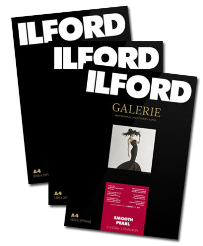 Ilford Galerie Smooth Pearl 310gsm A4 25+5 (30) sheet. ( 3 pack)