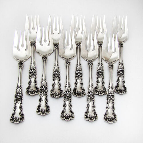 Buttercup Fish Forks 10 Sterling Silver Gorham Silversmiths 1899