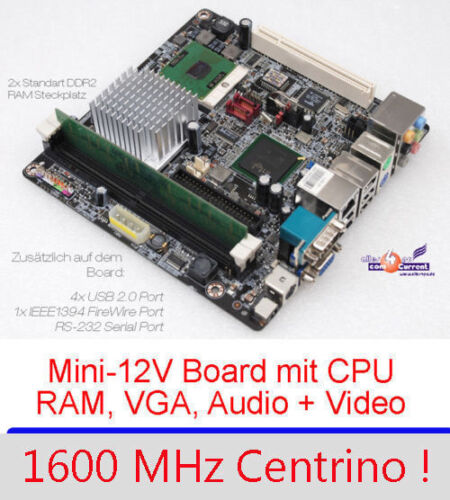 Motherboard Aopen i915GMt-FS VGA Svga-Out 1,6GHZ Intel CPU 1000MB RAM Sound