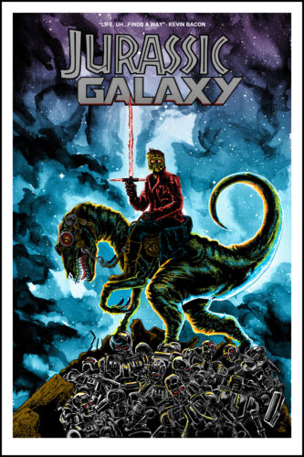 """TIM DOYLE """"Jurassic Galaxy"""" 18x24 Signed & Numbered"""