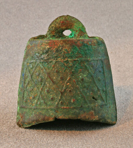 Authentic Zhou or Warring States bronze bell (B.C.475-221) Chinese