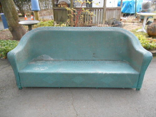 Antique Wicker 3 Seater Couch