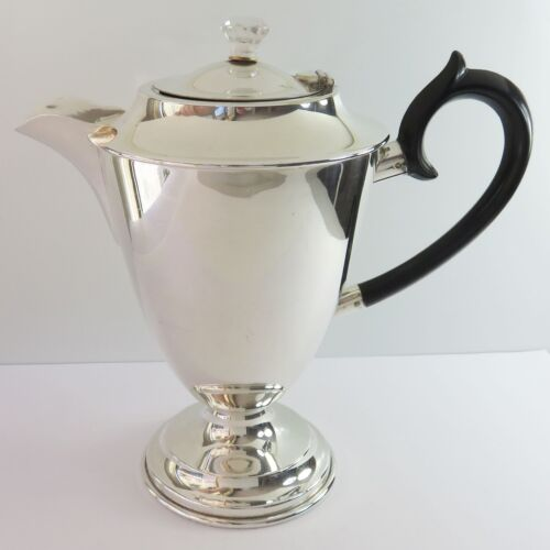 Vintage Hecworth Silverplate 5.5 Cup Coffee Pot Tea, Bakelite