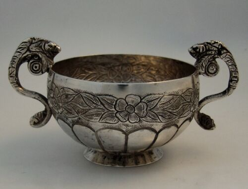 Spanish Colonial Silver Figural Bowl 1860