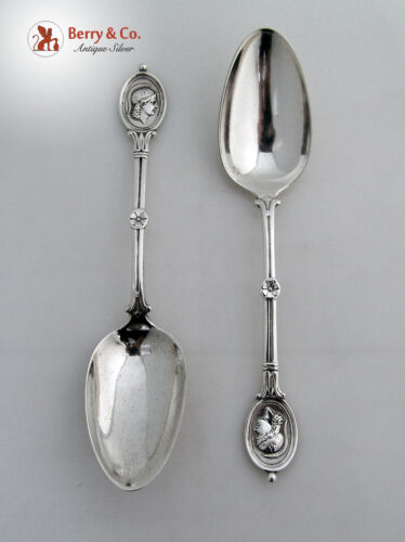 Medallion 2 Table Spoon Wendt Sterling Silver 1862