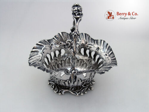 Cherub Basket Floral Handle Scroll Shell Body and Base Sterling Silver 1850