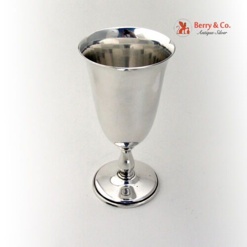 Pointed Antique Water Goblet Sterling Silver Reed And Barton