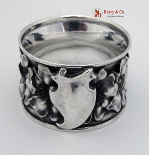 Art Nouveau Napkin Ring Unger Brothers Sterling Silver 1900