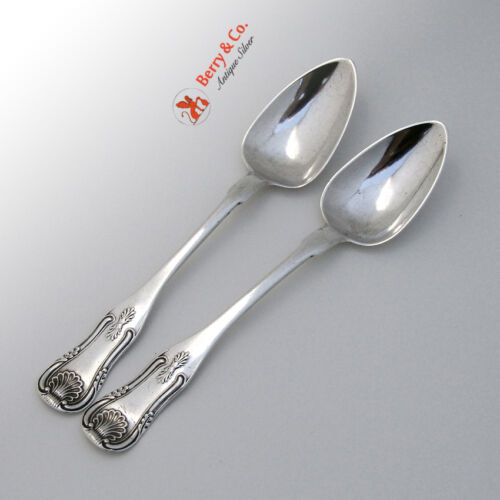 2 Coin Silver Teaspoons Kings Pattern William B North 1825