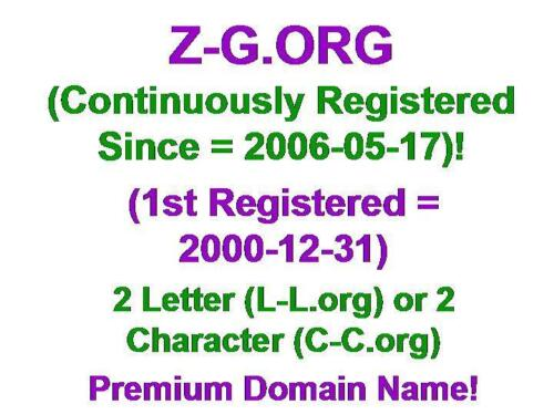 Z-G.ORG Domain Name LLL L-L.org CCC C-C.org 2 3 Letter Character Aged 2006-05-17