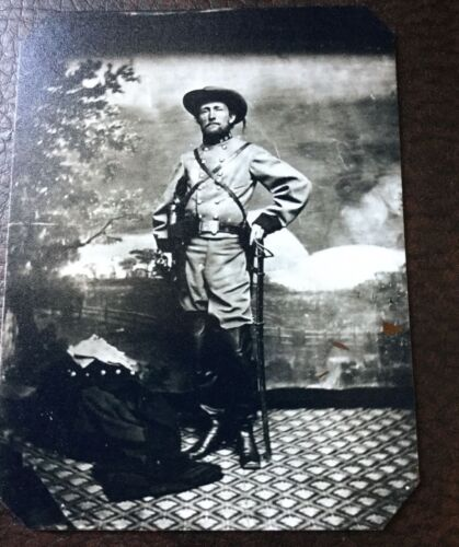 """Civil War John """"Grey Ghost""""Mosby Colonel Of The Confederacy tintype C046RP"""