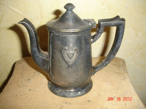 ANTIQUE ESTATE CONRAD HILTON TEA POT CREAMER SILVER SOLDERED INTL SILVER CO