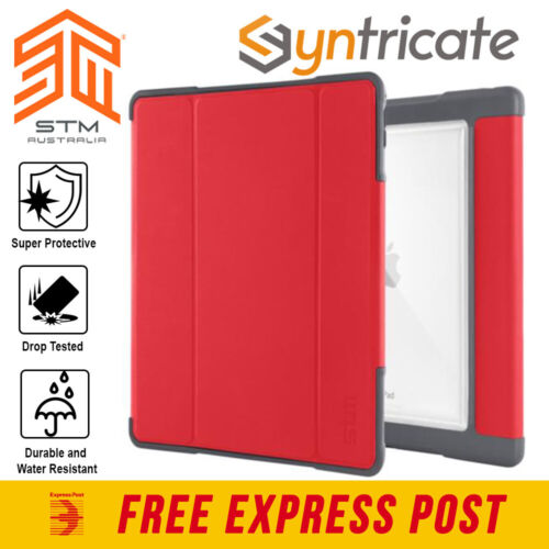 STM DUX PLUS DUO RUGGED TOUGH FOLIO CASE FOR iPAD 9.7-INCH (6TH/5TH GEN) - RED