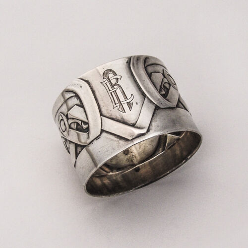 Napkin Ring Jugendstil 800 Silver Germany 1910