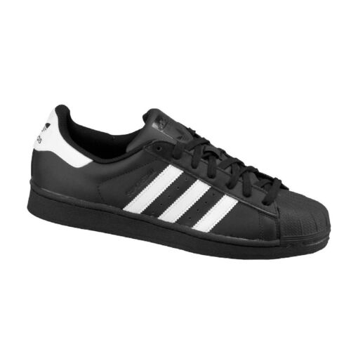 adidas Superstar Mens Black White Trainer Shoe Size 7.5 - 12 NEW RRP £75/-