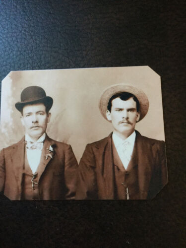 Old West Outlaws Butch Cassidy And Sundance Kid tintype C784RP
