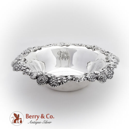 Tiffany Co Clover Serving Bowl Openwork Applied Rim Sterling Silver 1900 Mono