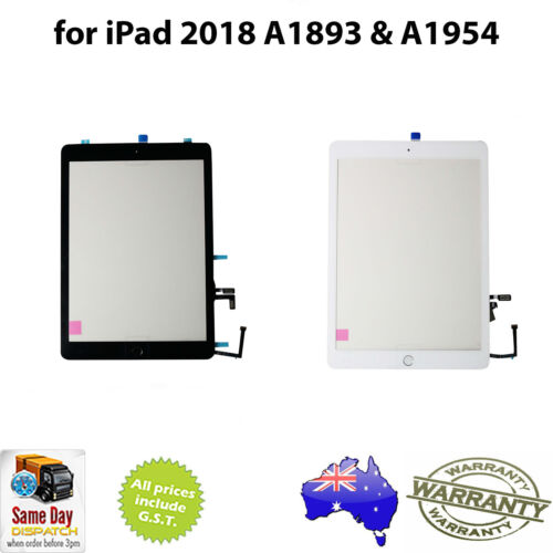 for iPAD 6th Gen (2018) - DIGITIZER ASSEMBLY c/w Adhesive - A1893/A1954