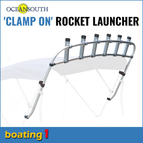 Clamp on Fishing Rod Holder/Rocket Launcher 6 Rod Holders - Max width 1.9m