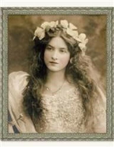 Victorian Trading Co Maude Fealy Tintype Vintage Portrait Lady Print New