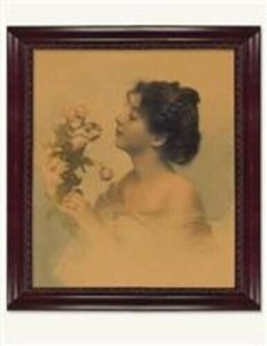 Victorian Trading Co Becca's Bouquet Portrait of Lady w/ Roses Watercolor Print