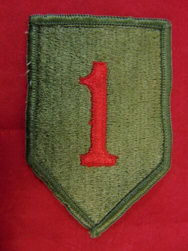 U.S. Army 1st Infantry Division Merrowed Edge Shoulder PatchArmy - 66529