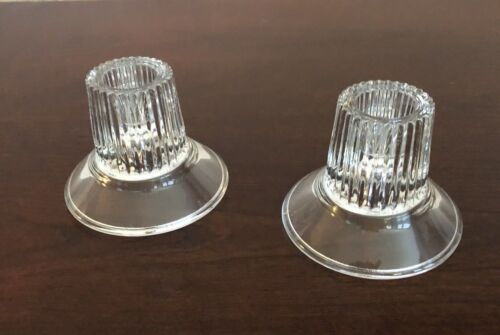 Vintage Clear Glass Candle Holders, Votive Candle Holders, Excellent Condition