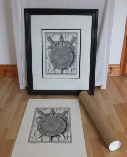 """Lithographic Print Titled """"Celtar's Comla Catha"""". Tribal/Celtic."""