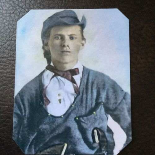 "Jesse James ""Rare Dressed"" as a Quantrill Guerilla  Colorized tintype C749RP"