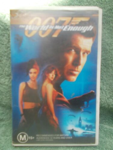 007 THE WORLD IS NOT ENOUGH(MGM No 15767) VHS TAPE M(LIKE NEW)