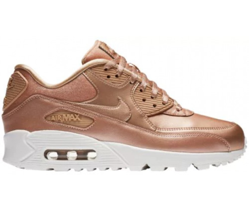 NIKE AIR MAX 90 SE LEATHER YOUTH SIZE 2.0 TO 7.0 BRONZE GOLD NEW RARE STYLISH