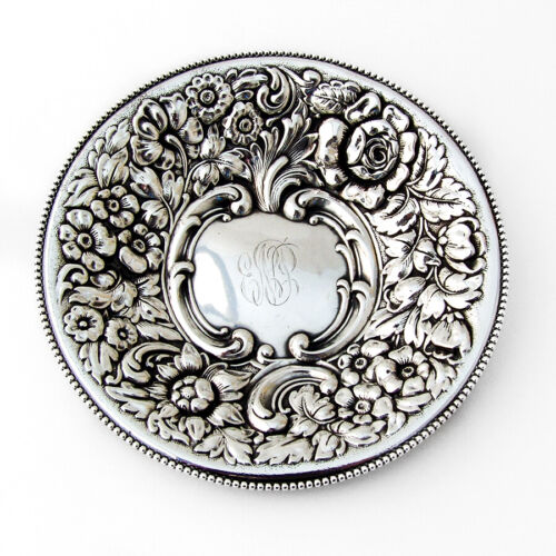Ornate Round Serving Dish Dominick and Haff Sterling Silver