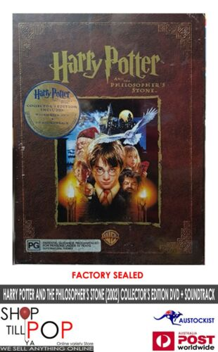 HARRY POTTER AND THE PHILOSOPHER'S STONE (2002) COLLECTOR'S ED DVD + CD SEALED