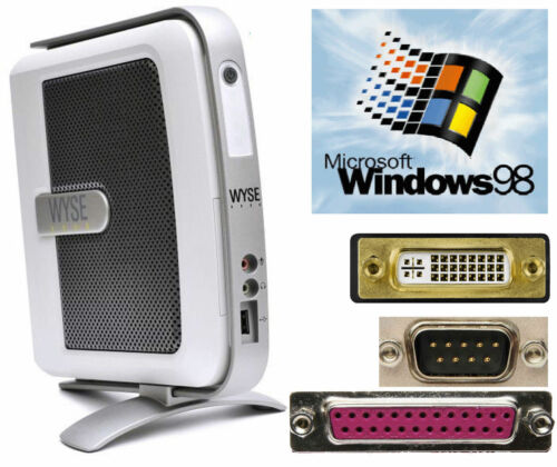 Computer Wyse V90L With Windows 98 RS-232 Serial Lpt Parallel Port DVI USB #TC60
