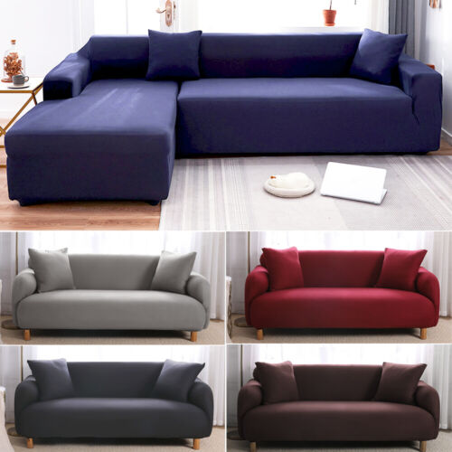 1 2 3 4 Seater Stretch Sofa Cover Couch Lounge Recliner Slipcover Protector