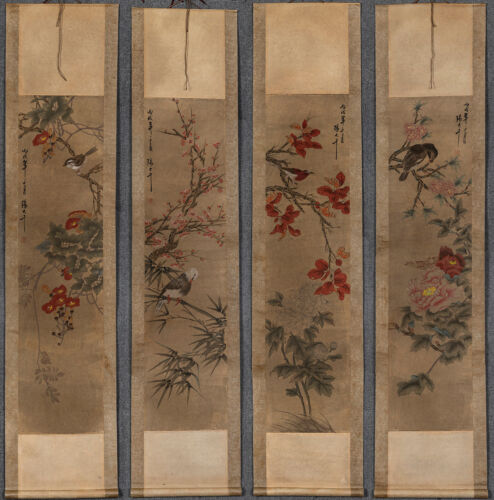 Chinese hanging scroll Hand-painted Flower Bird painting:张大千4Lhn18224