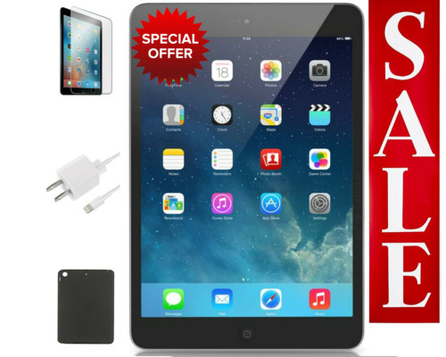 OPEN BOX Apple iPad Mini 2 Bundle | 16GB, WiFi Only, Space Gray | Free Shipping!