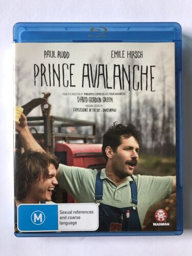 Prince Avalanche (Blu-ray, 2014) Like New Movie 🍿 Paul Rudd Rated M Region B