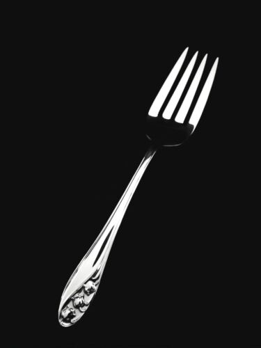 """Gorham Lily of the Valley Sterling Silver Serving Fork- 8 1/8"""" 👍"""