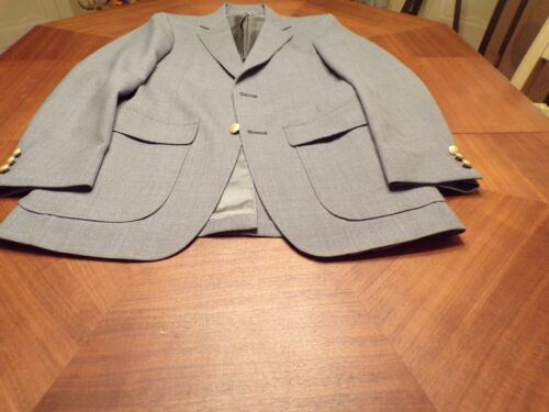 MENS MEDIUM GREY SPORT COAT SIZE 37 LONG