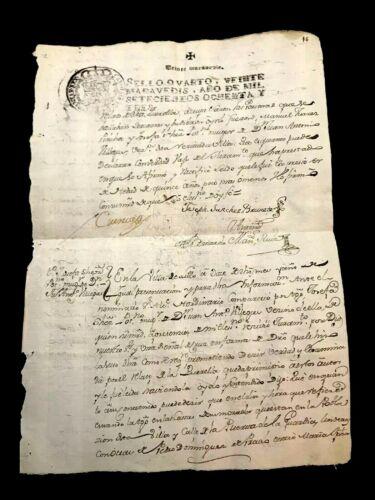 1783 Old Document from SPAIN