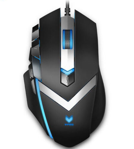 RAPOO V910 RGB MMO Laser Gaming Mouse Black - Upto 8200dpi Programmable Buttons