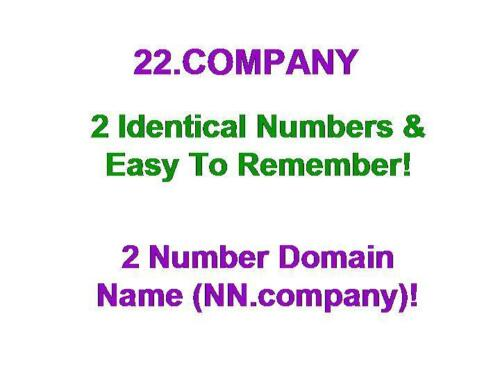 22.company Domain Name NN.company CC 2 Identical Number Business Commerce Retail