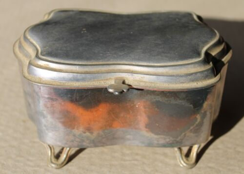 Derby Silver Plate Co Jewellery Trinkets Box Antique 1800's