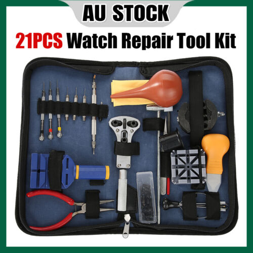 Watch Repair Tool Kit - Link Pin Bars Remover Removal Band Strap Adjuster Set