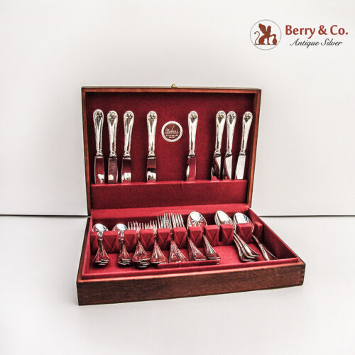 Rubans 42 Piece Flatware Set Christofle France Silverplate