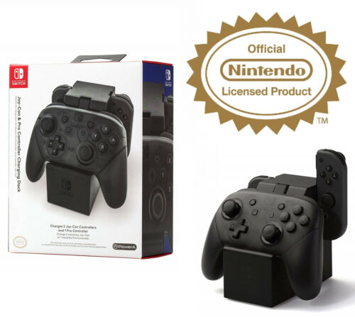 Nintendo Switch Licensed Pro Controller Joy Con Charging Dock Station Stand Port