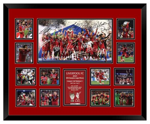 LIVERPOOL 2019 CHAMPIONS LEAGUE SALAH SIGNED LIMITED EDITION FRAMED MEMORABILIA