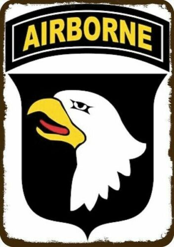 U.S. ARMY 101st AIRBORNE SCREAMING EAGLE INSIGNIA Vintage Look METAL SIGN Army - 66529
