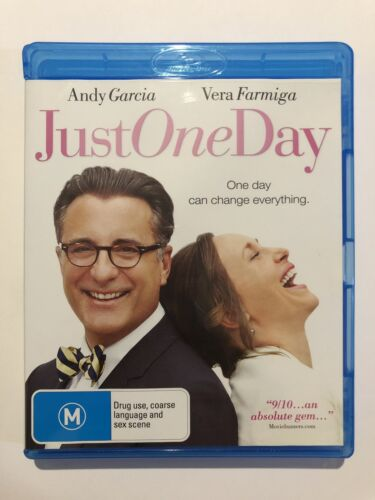 Just One Day (Blu-Ray, 2014) Like NEW Movie 🍿 Rated M Andy Garcia Vera Region B